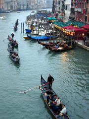 venice scenery from the rialto bridge