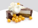 chocolate sweets the frozen berries of sea-bucktho poster