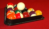 rack of pool balls poster