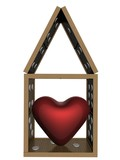 small house made of a dominoe. the 3d  image. poster