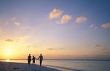 famiglia al tramonto poster