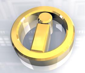 simbolo informazione in oro