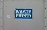 waste paper bin poster