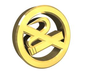 simbolo vietato fumare in oro - no smoke symbol 3