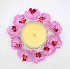 orchid scented candle