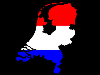 map of netherlands and dutch flag