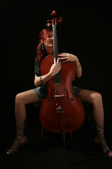 sexy girl with viola