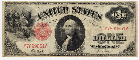 one dollar bill 1912