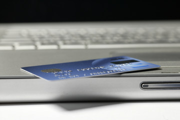 credit card on a lap top
