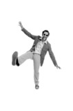 hip guy standing funny wearing sunglasses poster