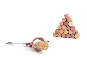 cork screw and wine corks