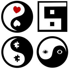 conceptual yinyang symbols