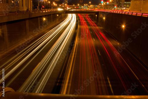 Leinwandbild Motiv long exposure lights