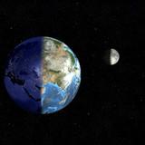 earth day & night-eurasia poster
