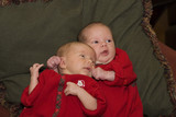 brother holding sister