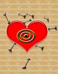 cupids dartboard