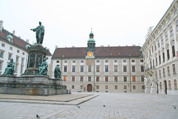 square at hofburg, vienna