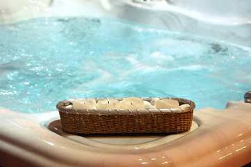 jacuzzi with decoration