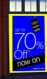 sale.sign.up to 70% off now on selected items poster