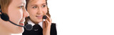 beauty happy girls operators team poster