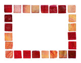 red ceramic tiles in a frame poster