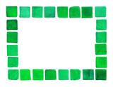 green ceramic tile frame poster