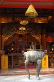 altar in a chinese temple poster