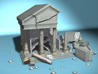 banca distrutta