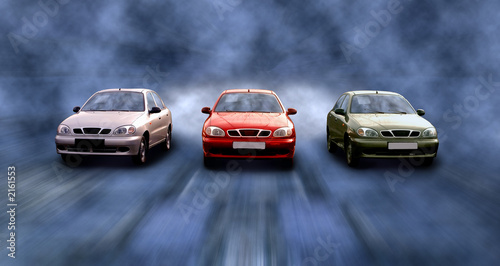 Foto op Canvas Snelle auto s high speed of cars on road