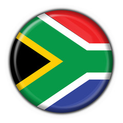 bottone bandiera sudafricana - south africa flag