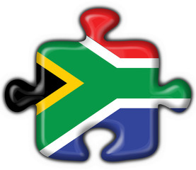 bottone puzzle sudafricano - south africa flag
