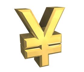 simbolo dello yen a fondo bianco