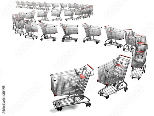 shopping cart line