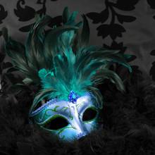 Zielony i niebieski tajemnicze maski (Wenecja)