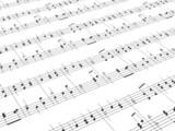sheet of printed music poster