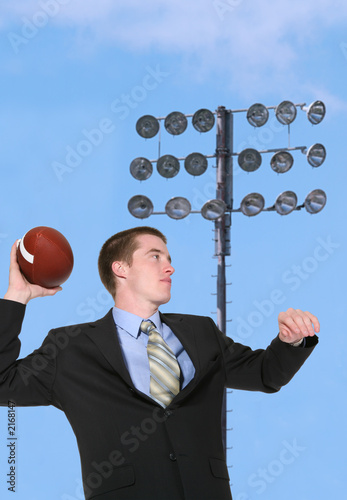 business man making a pass