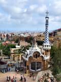 barcelona landmark - park guell poster