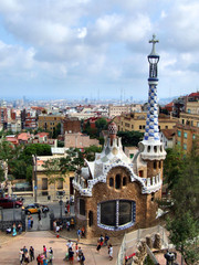 barcelona landmark - park guell