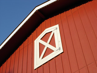 red barn roof
