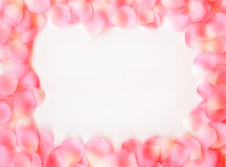 dreamy rose petal frame
