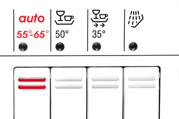 control panel of dishwasher