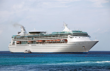 large cruise ship side view