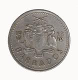 barbados ten cent coin poster