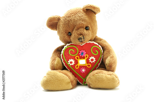 teddy bear with big sweet heart