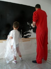 père et fils peinture