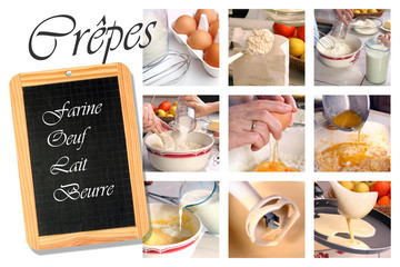 préparation crêpes