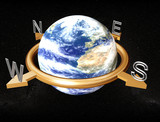 earth compass poster