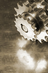 gears with titanium reflection