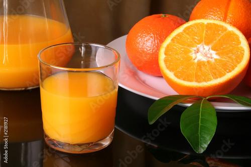 verre jus d'orange