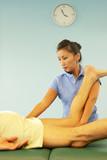 beautiful massage therapist at work poster